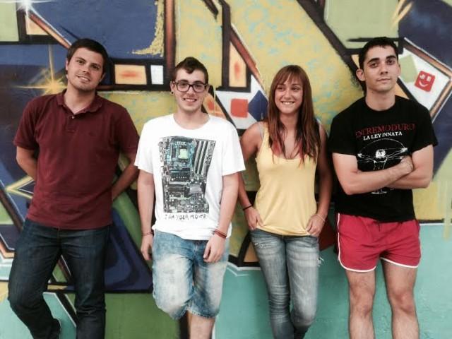 Els membres de la Coordinadora de Compromís Jove Gandia.